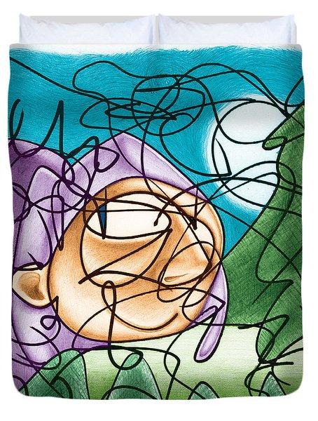 Eavesdropping Duvet Cover by Ismael Cavazos
