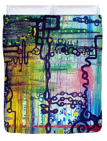 Emergent Order Duvet Cover by Regina Valluzzi