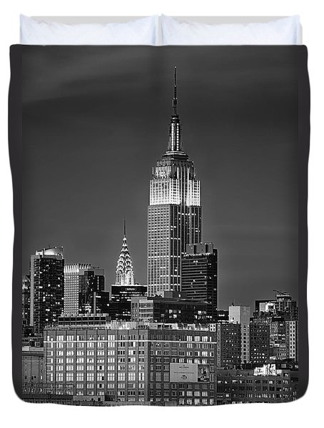 Empire And Chrysler Buildings Duvet Cover
