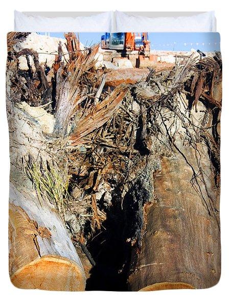 Environmental Destruction In Construction  Duvet Cover