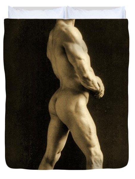 Eugen Sandow Duvet Cover by Napoleon Sarony