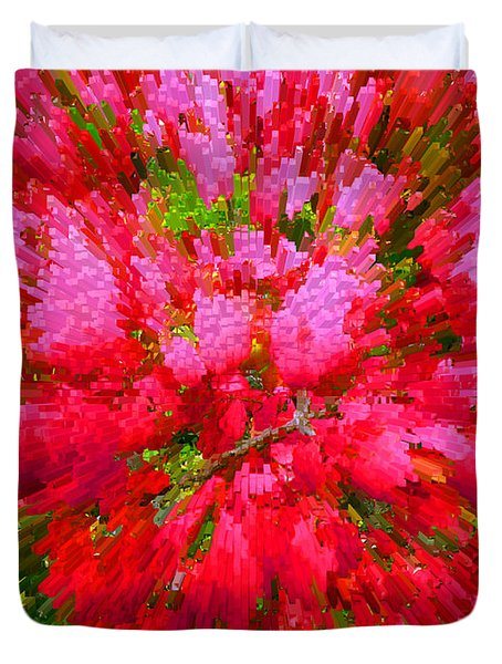 Explosion Of Spring Duvet Cover by Alys Caviness-Gober