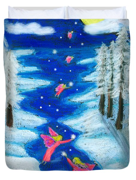 Faery Merry Christmas Duvet Cover
