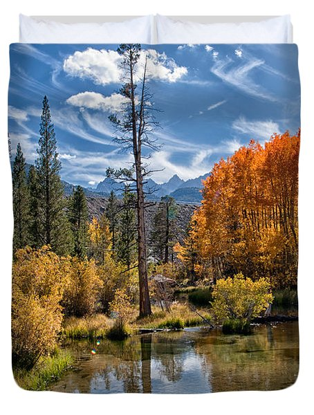 Fall At Bishop Creek Duvet Cover