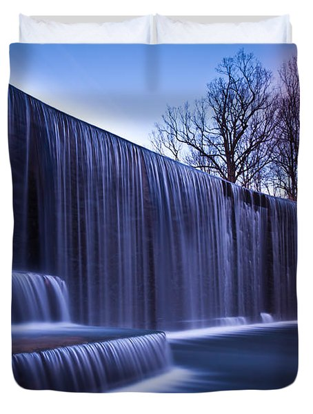 Duvet Cover featuring the photograph Falling Water by Mihai Andritoiu