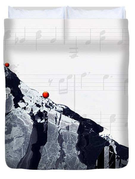 Fantasia - Piano Art By Sharon Cummings Duvet Cover by Sharon Cummings