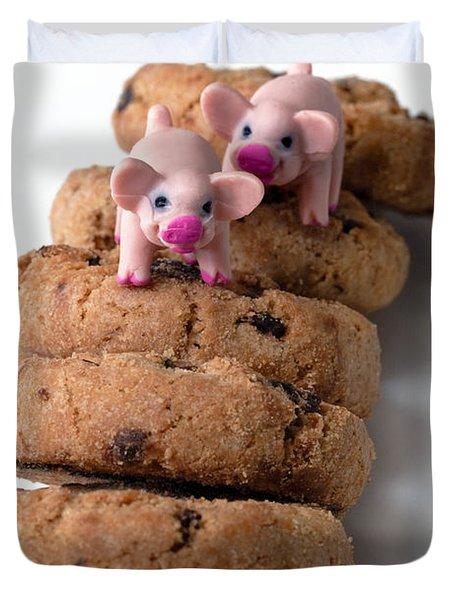 Fat Pigs 2 Duvet Cover