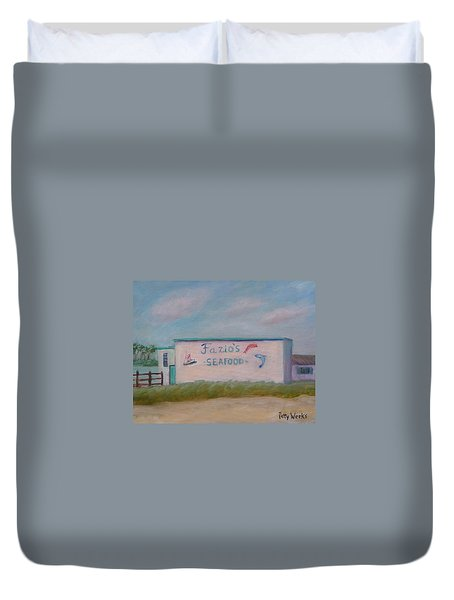 Fazios Seafood In St Augustine Florida Duvet Cover