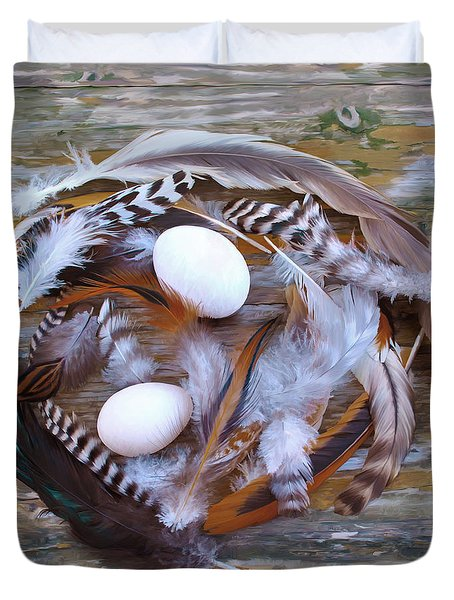 53. Feather Wreath Can Be Ordered Duvet Cover