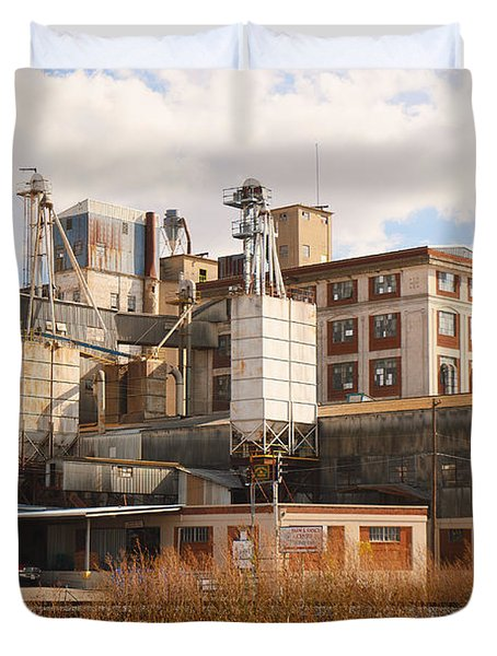 Feed Mill Duvet Cover by Charles Beeler