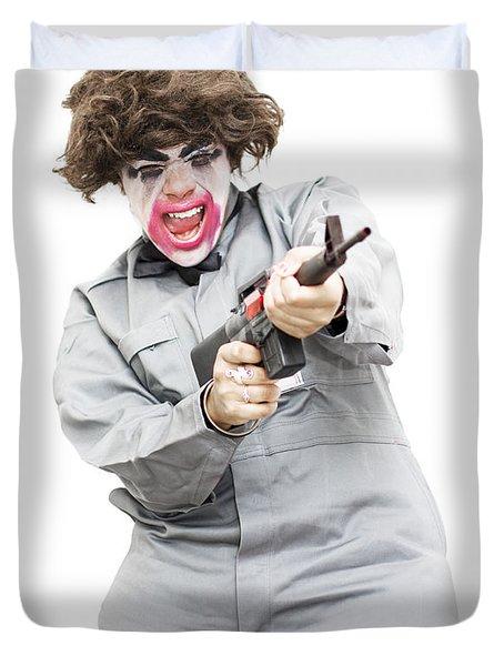 Female Psycho Killer Duvet Cover
