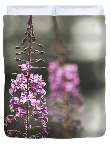 Duvet Cover featuring the photograph Fireweed by Yulia Kazansky