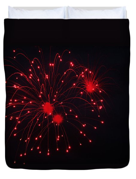 Duvet Cover featuring the photograph Fireworks by Rowana Ray