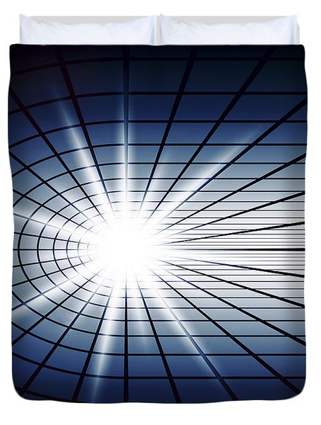 Fissile Detonation Abstract Duvet Cover by Daniel Hagerman