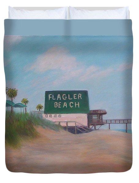 Flagler Beach Florida Duvet Cover