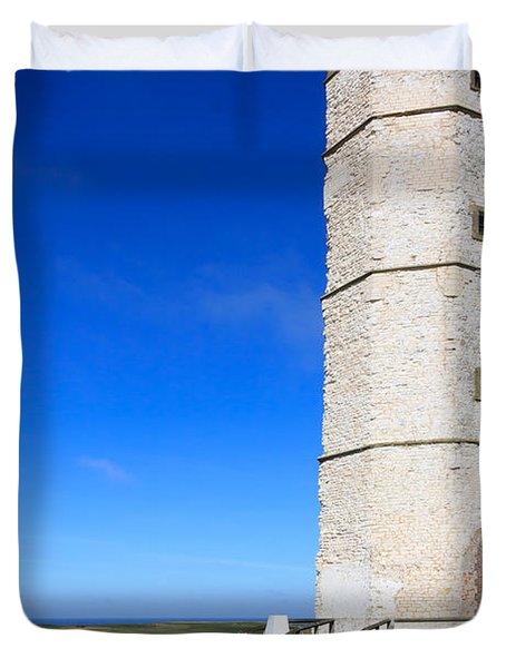 Flamborough Old Lighthouse Duvet Cover
