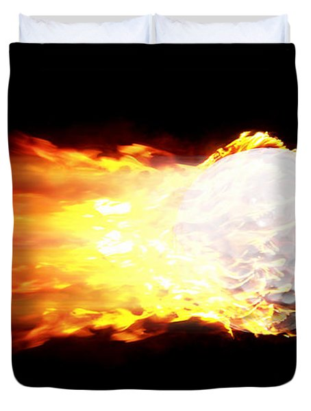 Flame Golf Ball Duvet Cover
