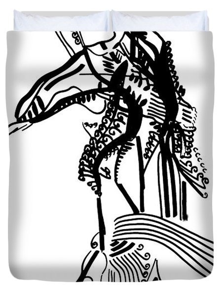 Flamenco Spain Duvet Cover