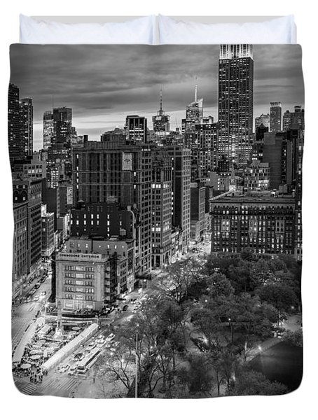 Flatiron District Birds Eye View Duvet Cover by Susan Candelario