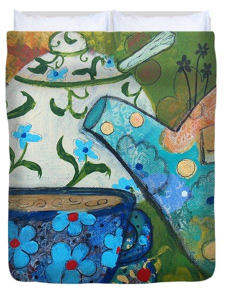Floral Tea Duvet Cover