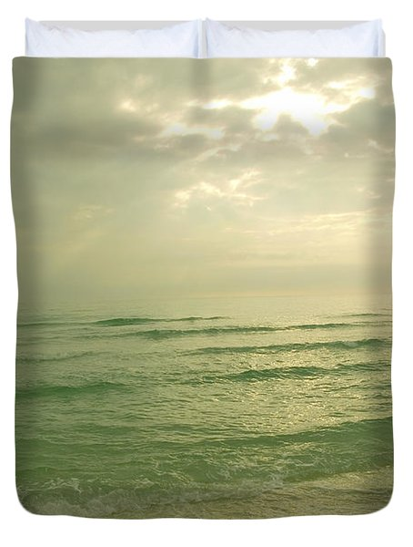 Duvet Cover featuring the photograph Florida Beach by Charles Beeler