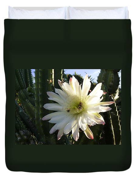 Duvet Cover featuring the photograph Flowering Cactus 1 by Mariusz Kula
