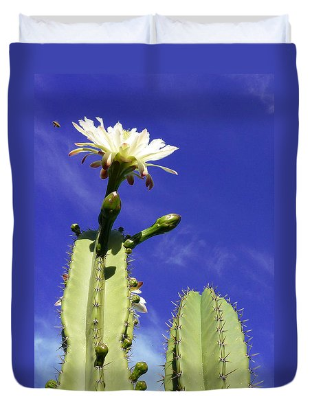 Duvet Cover featuring the photograph Flowering Cactus 2 by Mariusz Kula