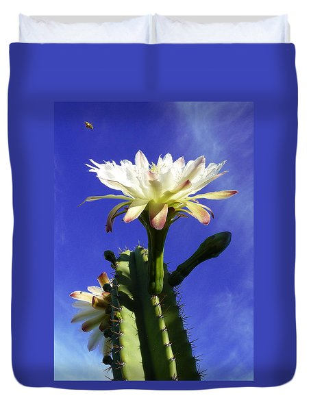 Duvet Cover featuring the photograph Flowering Cactus 3 by Mariusz Kula