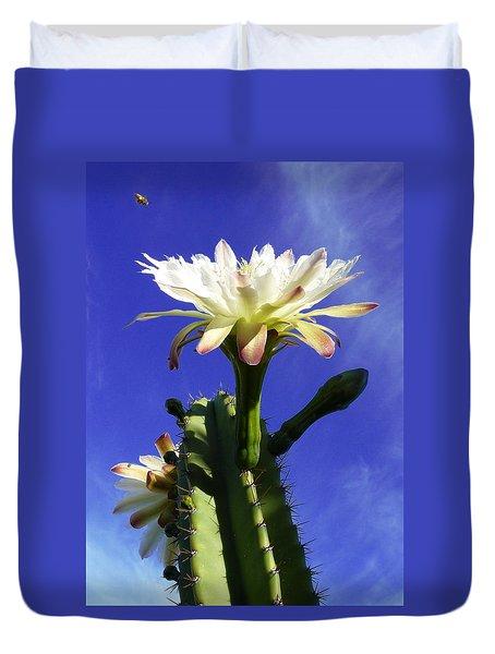 Flowering Cactus 3 Duvet Cover by Mariusz Kula