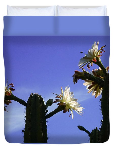 Duvet Cover featuring the photograph Flowering Cactus 4 by Mariusz Kula