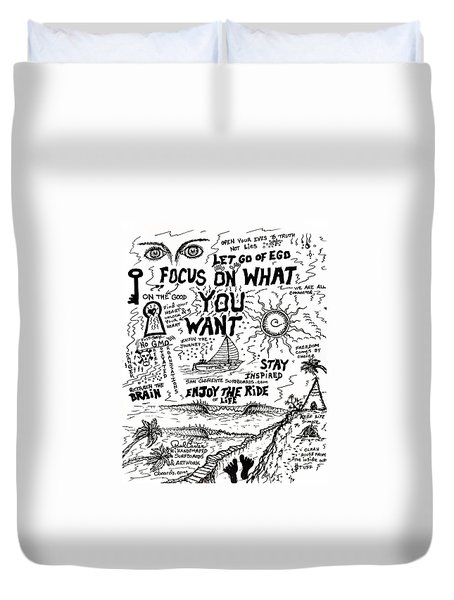 Focus On What You Want Duvet Cover