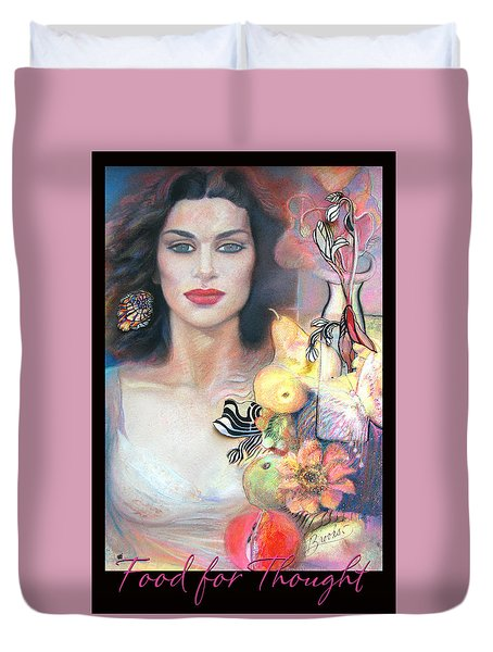 Food For Thought 2 - Pastel Art Duvet Cover