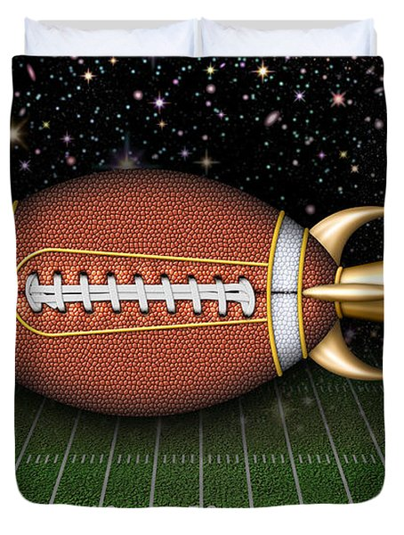 Football Spaceship Duvet Cover