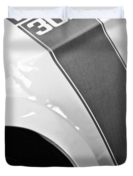 Ford Mustang Boss 302 Emblem Duvet Cover by Jill Reger