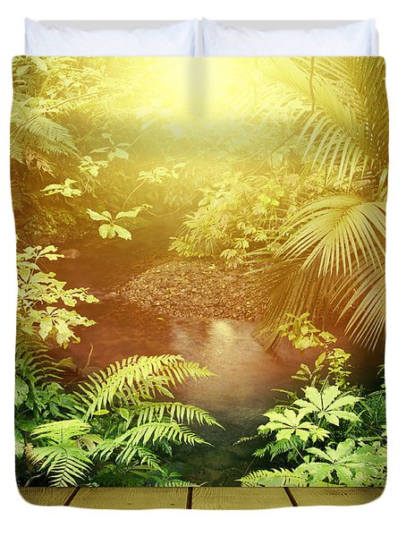 Forest Light Duvet Cover by Les Cunliffe