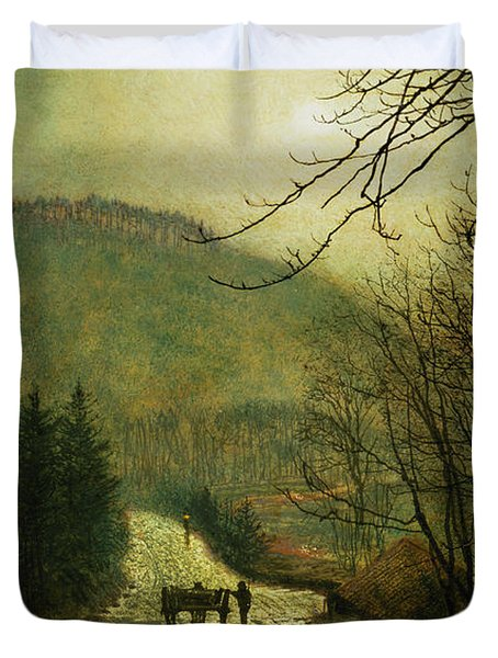 Forge Valley Duvet Cover by John Atkinson Grimshaw