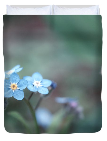 Forget Me Not Duvet Cover by Rachel Mirror