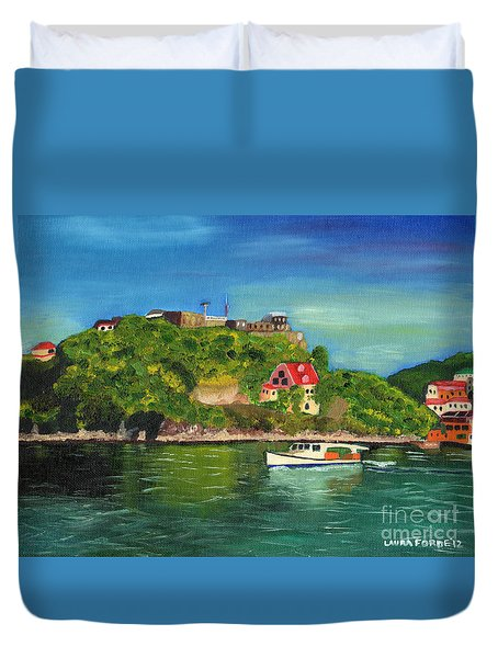 Fort George Grenada Duvet Cover