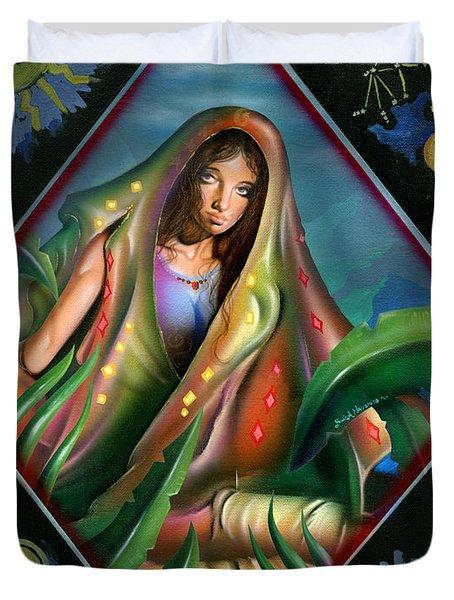 Fortune Teller Duvet Cover by Luis  Navarro