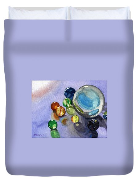 Found My Marbles Duvet Cover