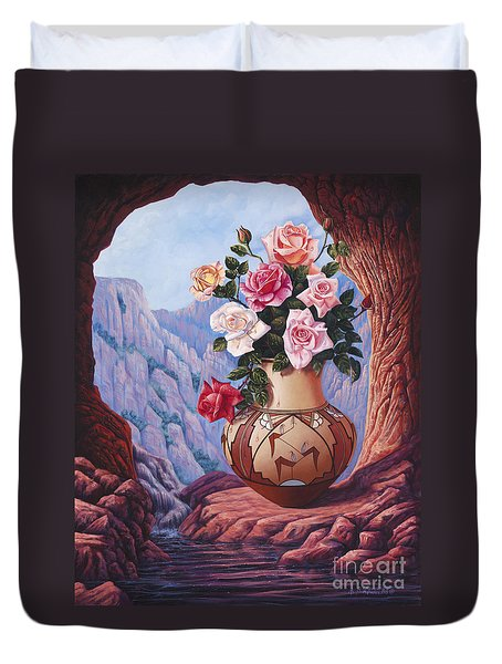 Fragrance And Dew Duvet Cover by Ricardo Chavez-Mendez