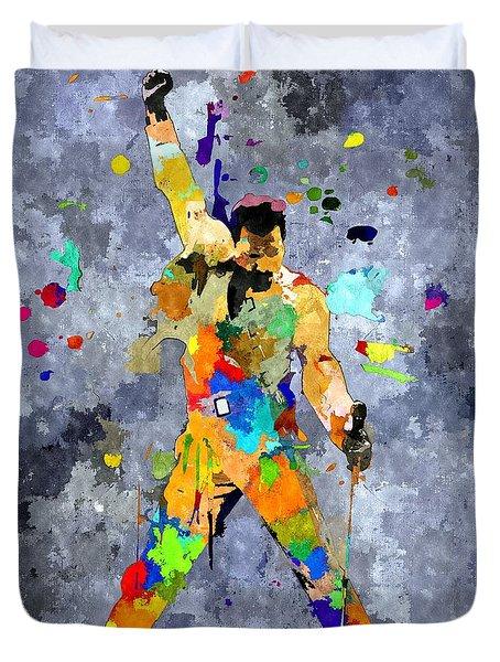 Freddie Mercury Duvet Cover by Daniel Janda