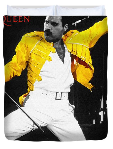 Freddie Mercury Live In Wembley1986    Duvet Cover