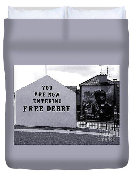 Free Derry Corner 7 Duvet Cover