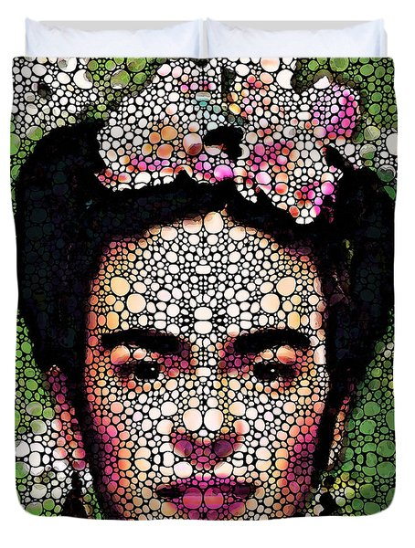 Frida Kahlo Art - Define Beauty Duvet Cover by Sharon Cummings
