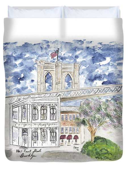 1 Front Street In Brooklyn Duvet Cover