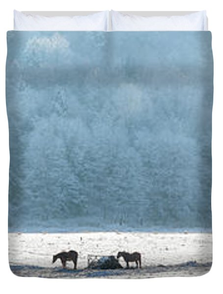 Frosty Morning Duvet Cover by Bill Wakeley