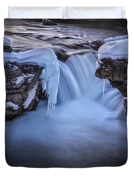 Frozen Splendor Duvet Cover