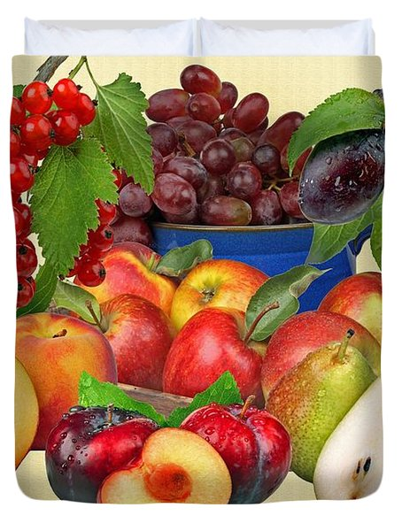 Fruits Duvet Cover by Manfred Lutzius