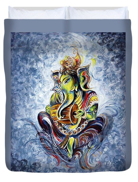 Musical Ganesha Duvet Cover